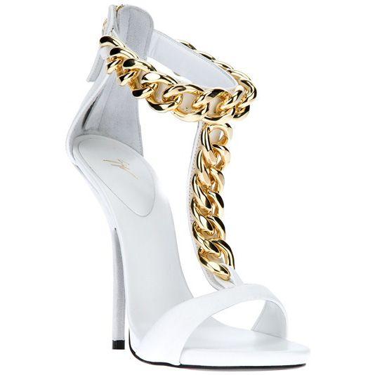 giuseppe zanotti chain link heels