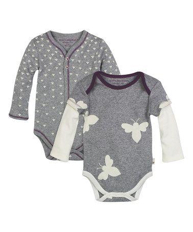 Loving this Heather Gray Busy Bee Organic Bodysuit Set ...