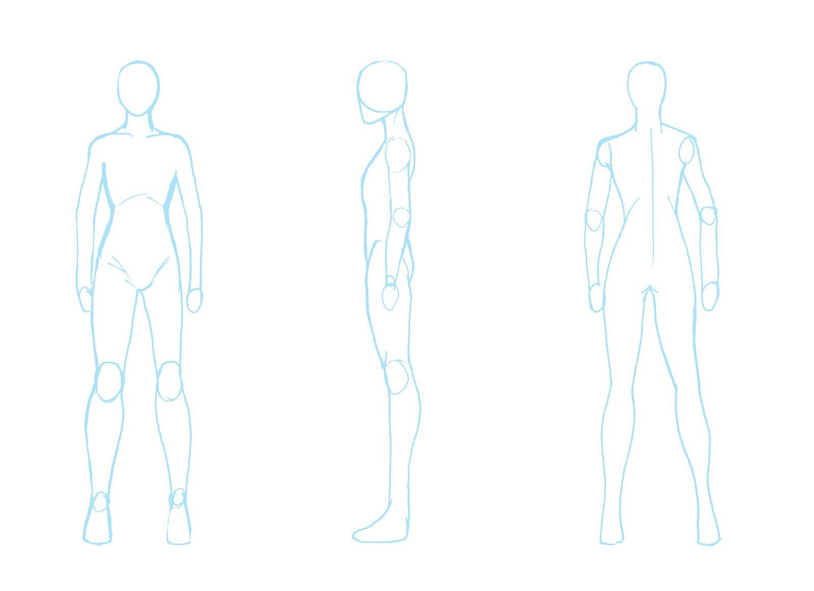 Character Design Outline : Body turnaround by zpansven on deviantart male