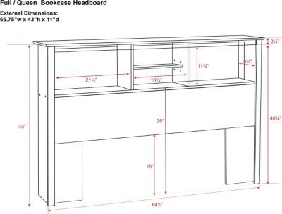 Free Bookcase Headboard Plans