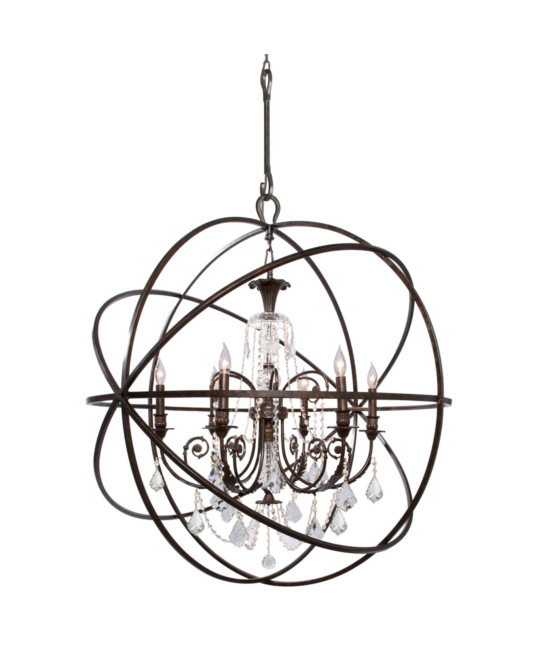 Crystorama 9219 Solaris 40 Inch Chandelier Lighting