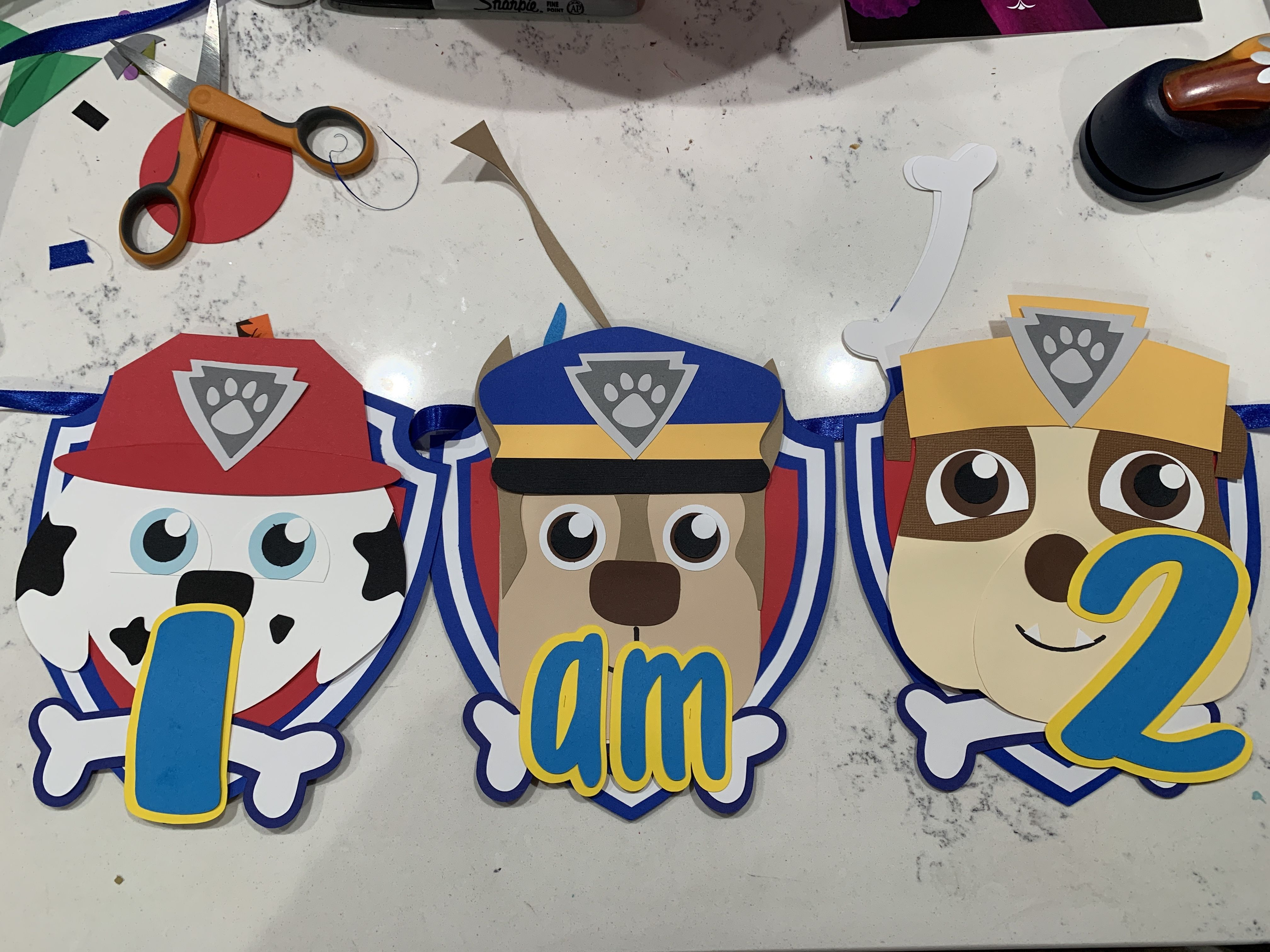 Paw patrol party, paw patrol party decorations, paw patrol high chair, high chair party decoration - Paw patrol party decorations, Paw patrol theme party, Paw patrol party, High chair banner, Paper garland, Patrol party - 8 inch wide silk ribbon  Each end is fold to create a hoop  No hook is included for you to hang it  I recommend the 3M COMMAND hooks, they don't damage the walls  Check out my  promotion  on the main page  You can qualify for a discount  I accept custom orders all the time  Check out my Facebook or instagram page for ideas @craftophologie