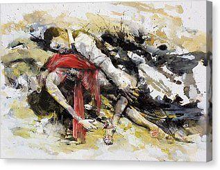 Tango 9b Canvas Print by Maryam Mughal
