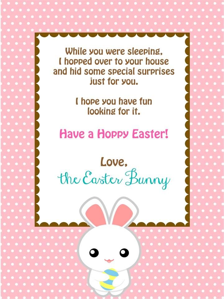 Easter Bunny Easter Gift Letter from Easter Bunny and Certificate Personalised