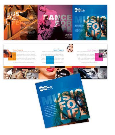 Music School Tri Fold Brochure Tri fold Brochures Pinterest - microsoft tri fold brochure template free