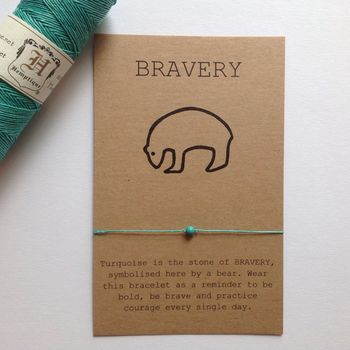 Turquoise Gemstone Bravery Bracelet