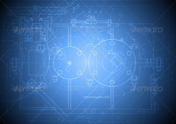 Hi-tech engineering drawing Blue backgrounds, Tech and Template - engineering powerpoint template