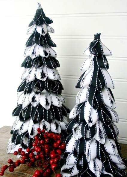 Super black and white christmas tree ideas ribbons Ideas #blackchristmastreeideas Super black and white christmas tree ideas ribbons Ideas #tree #blackchristmastreeideas