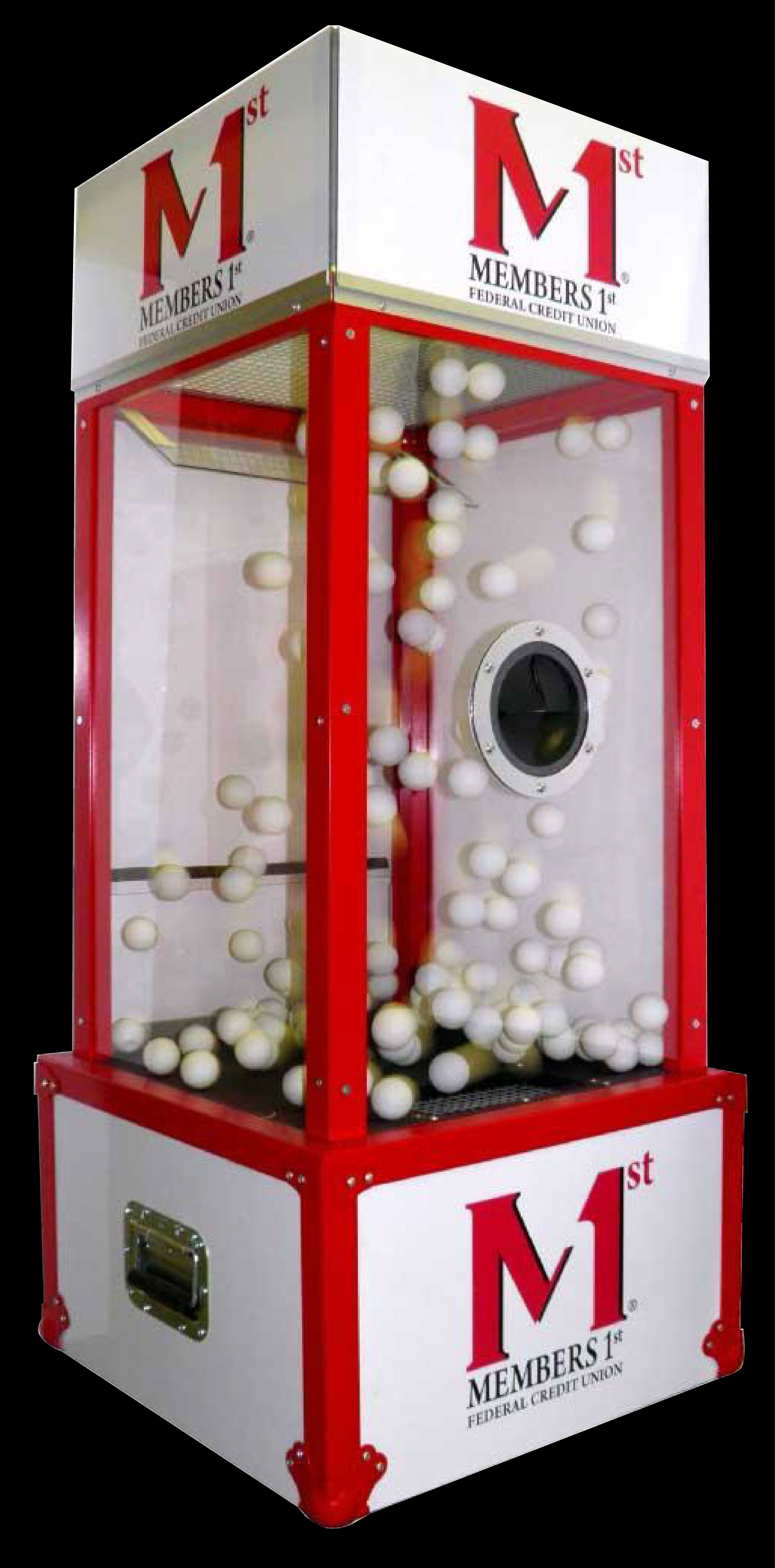 Mini Money Blowing Booth With Ping Pong Ball Option For