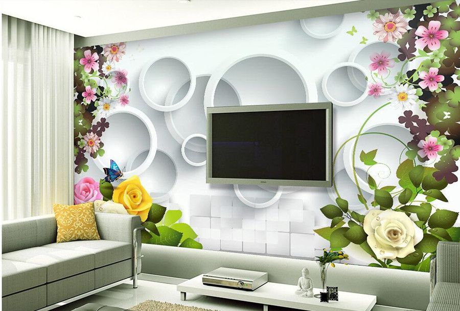 12 3d Wallpaper For Tv Wall Units That Will Make A Statement Wall Decor Living Room Living Room Tv Wall Design Living Room Wallpaper