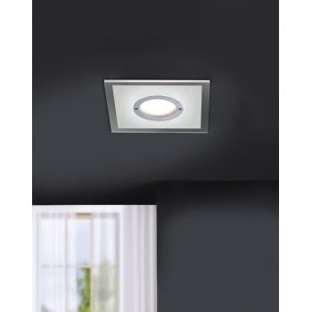 A Timeless Design A Square Recessed Ceiling Light Finished In Chrome With Frosted Acrylic Diff Recessed Ceiling Lights Light Fittings Ceiling Lights