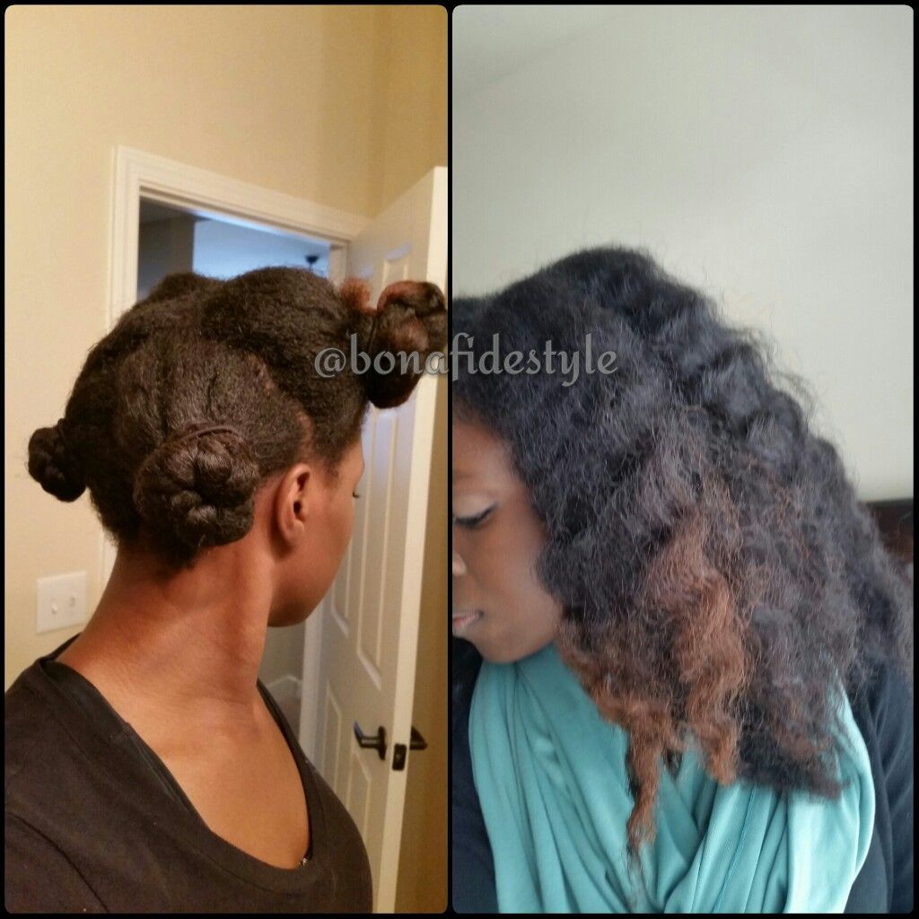 4 Techniques To Quickly Stretch Natural Hair And Show Off More Length Natural Hair Twist Out Hair Styles Long Hair Styles