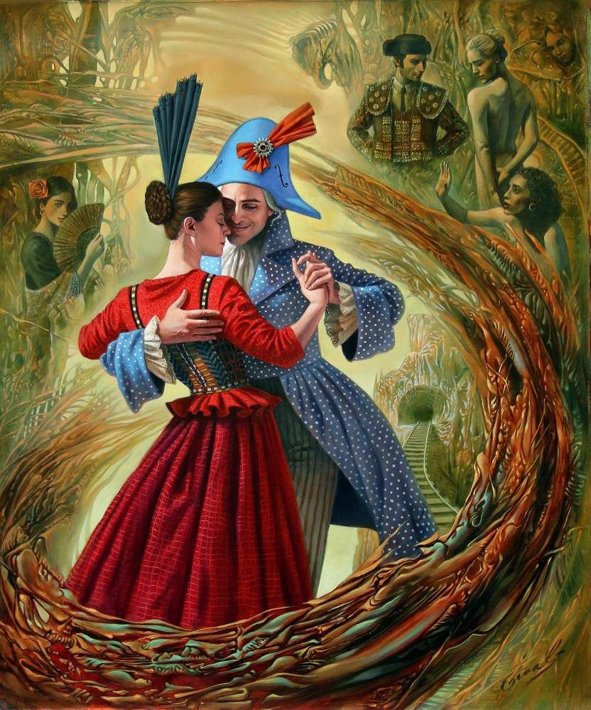 The Last Tango By Michael Cheval Art Surreal Art Art Painting