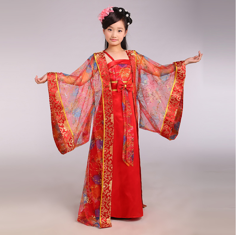 3cb30b0a0 Children Chinese Traditional Costume Girl Princess Royal Dance Dress  Ancient…