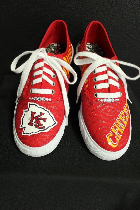 68460922 Kansa+City+Chiefs+Hand+Painted+LaceUp+Canvas+by+TouchOfJoyDesigns,+$ ...