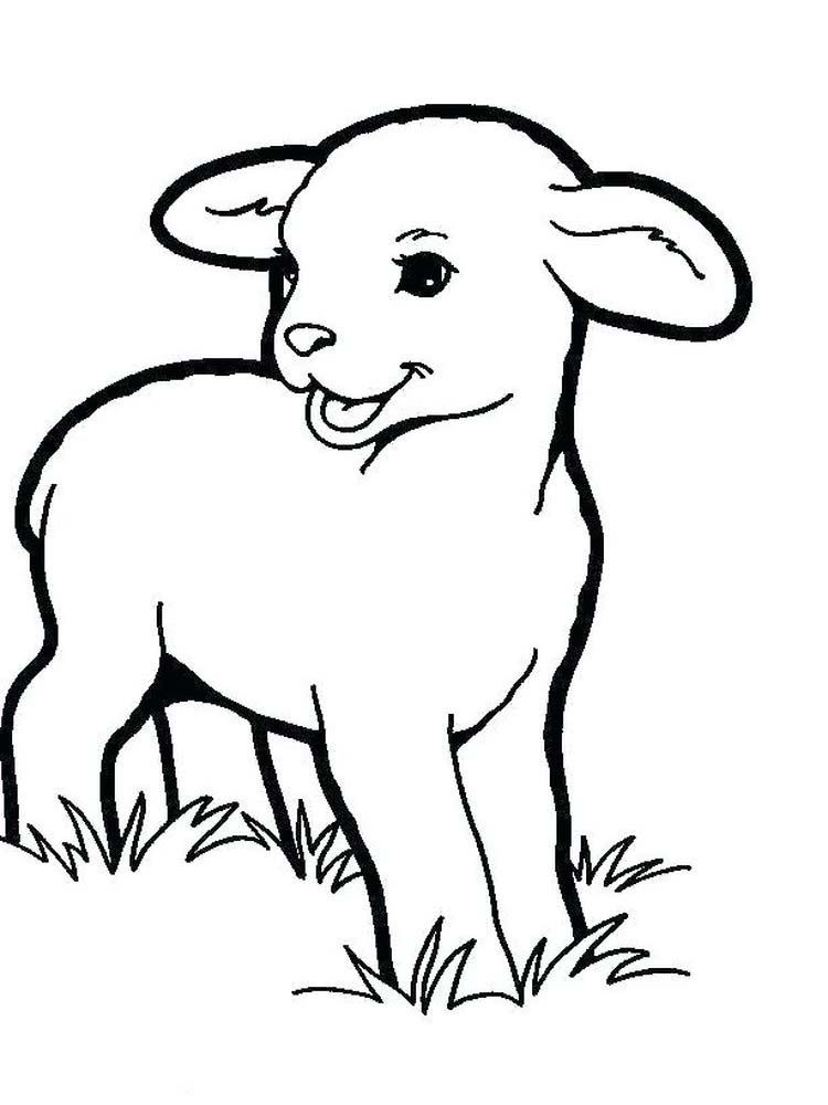 Boy With Sheep Animal Coloring Pages Easter Coloring Pages