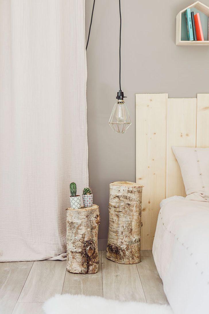 baumstamm als nachttisch beautiful baumstamm hocker. Black Bedroom Furniture Sets. Home Design Ideas