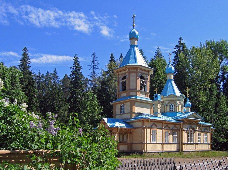 Eglise De L Assomption De L Ermitage De Gethsemani Situe A 1 5 Km Au Sud Ouest Du Monastere De Valaam Construit En 1 Arhipelag Hramovaya Arhitektura Sobory