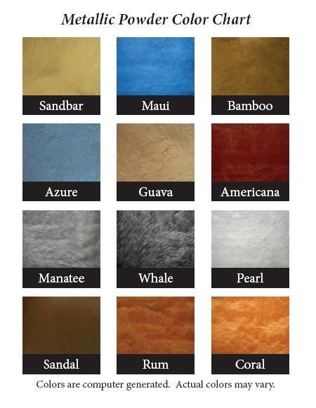A Few Metallic Epoxy Colors Abilene Texas Color Charts