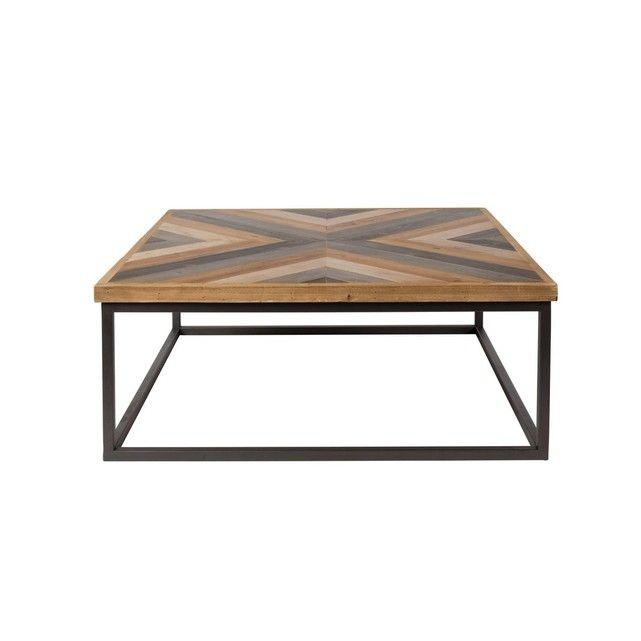 Table Basse Carree Bois Metal
