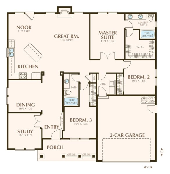 Parkwood floor plan actually this is a great one story for Ideal house plan