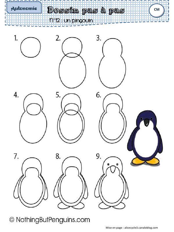 Apercu Du Fichier Dessinpasapas Pdf Art De Pingouin Dessin De