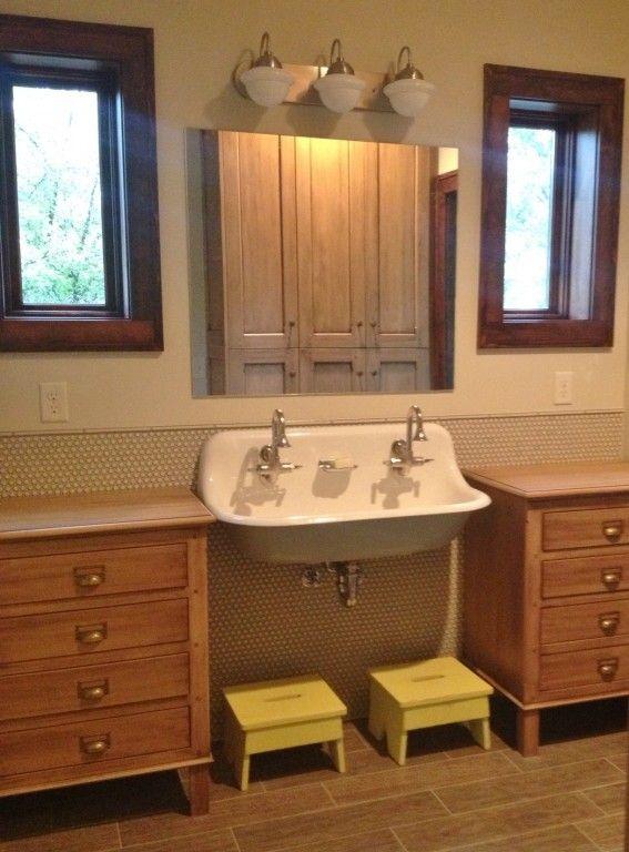 Vintage Vanity Lights Add Retro Spin To Kids Bath Remodel  Blog Delectable Vintage Bathroom Vanity Lights Design Inspiration