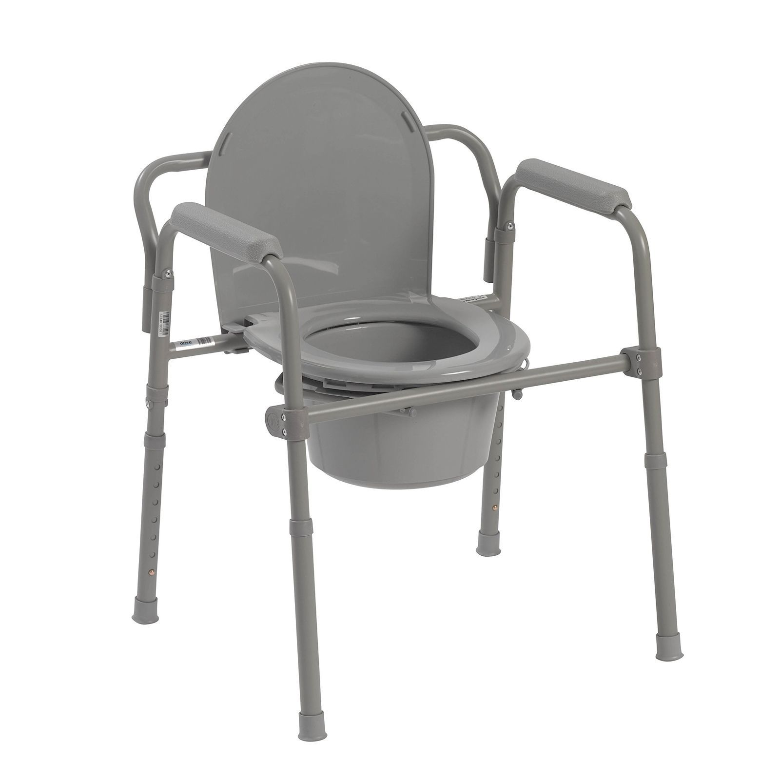 Easily Opens And Folds Flat For Storage And Transportation Durable Plastic Snap On Seat And Lid Installs Without Pushing Bedside Commode Commode Chair Commode