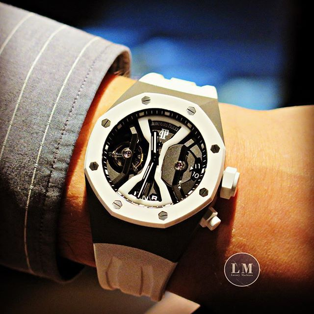 Audemars Piguet Royal Oak Concept Gmt Tourbillon White Ceramic S