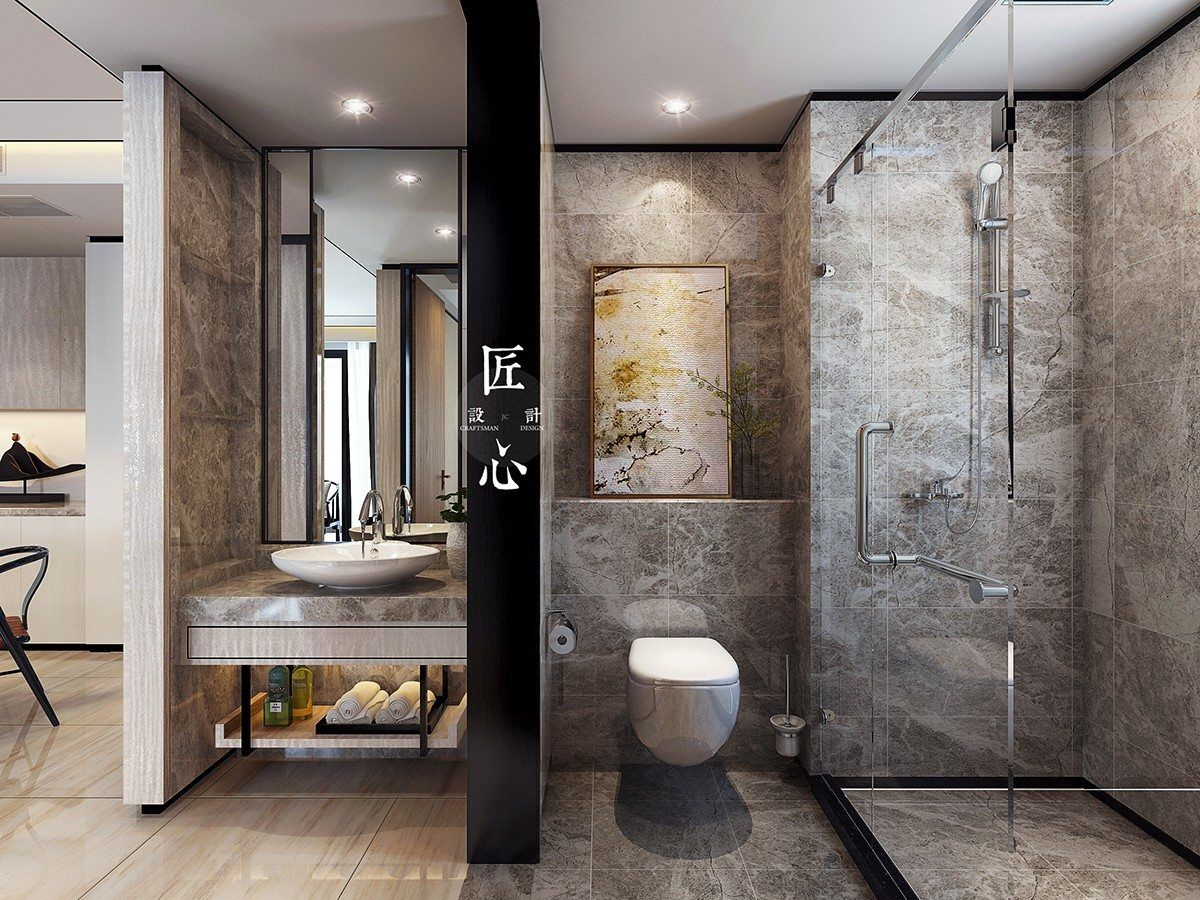 Oriental Style Bathroom Design Ideas: Classic Design Interior Ideas For Small Apartment