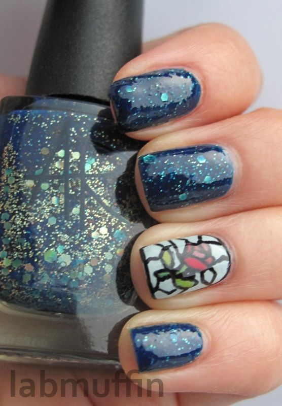 Rose Nail Art Inspired By Disneys Beauty And The Beast Lab Muffin