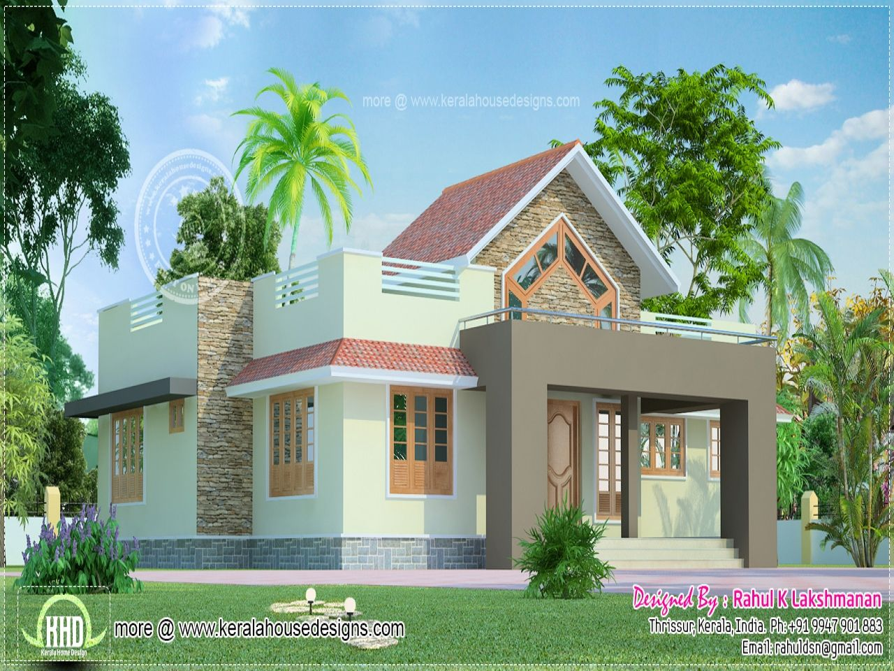 One Floor House Exterior Design Single Story Houses Flat Roof Home