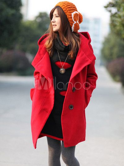 Casual Loose Cotton Blend Women's Coat - Milanoo.com