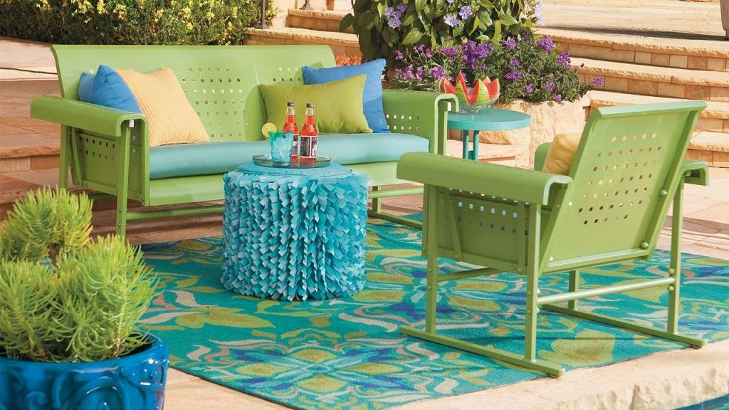 Blue Patio Designs Design The Colorful Of Retro Furniture Green