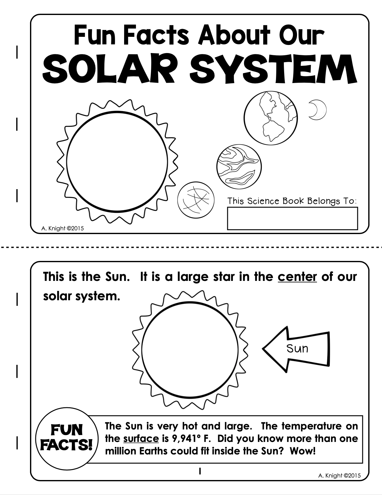 Our Solar System Text And Comprehension Activity About
