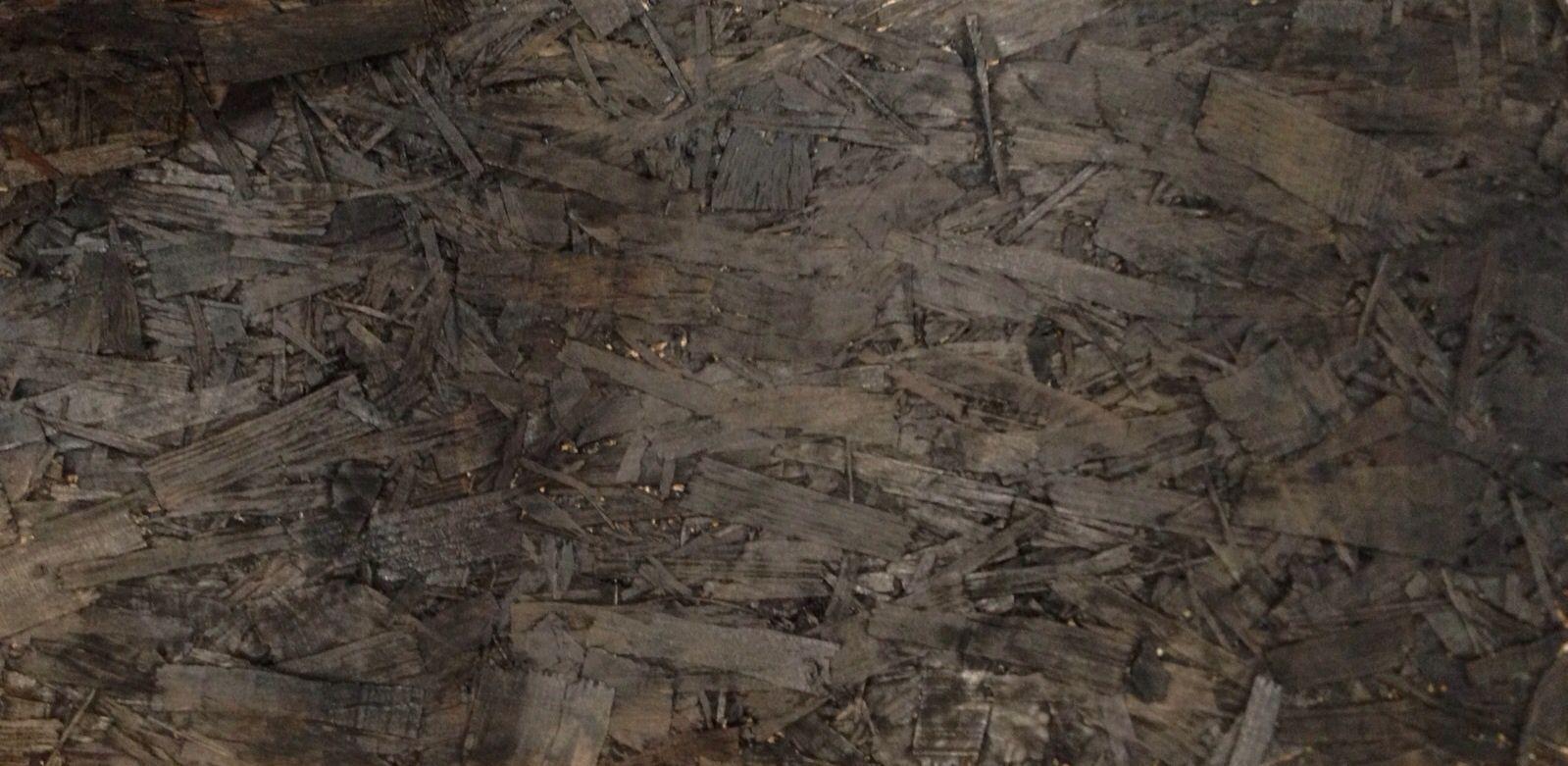Black Stained Osb Flooring Floor Paint Wood