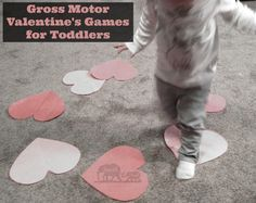 Valentines gross motor games for toddlers