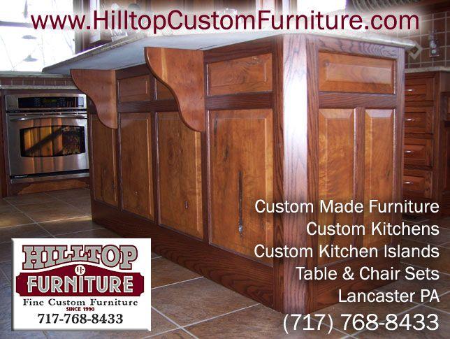 Www Hilltopcustomfurniture Com Kitchen Html We Design And Manufacture Custom Kitchens Islands Cabinets And Custom Kitchens Custom Furniture Custom Made Furniture