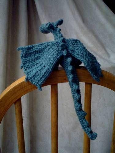 In red, natch ;-)    Crochet Dragon - Free Pattern