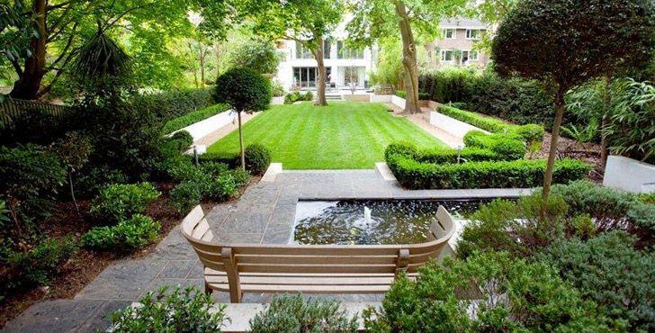 Genial Garden U0026 Exterior Design An Elegant Paving Where Divide In The ... |  Entrance Ways.. | Pinterest | Contemporary Garden, Gardens And Landscaping