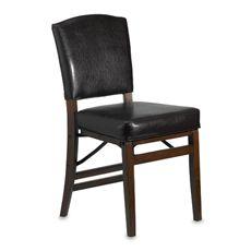 Parsons Faux Leather Folding Chair Bed Bath Beyond Bed Bath