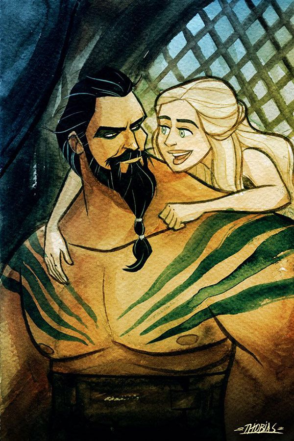 game of thrones drogo and daenerys love scenes