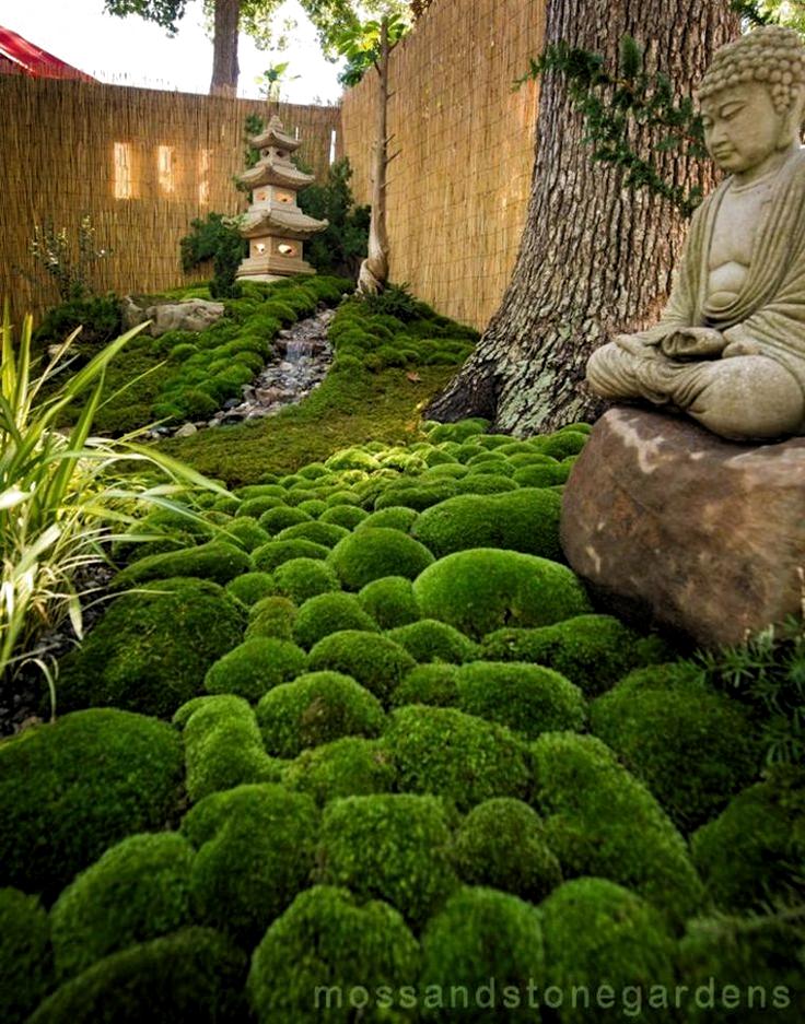 Ideen Fur Die Dekoration Eines Schonen Gartens Mit Stein Und Moos Garten Mit Steinen Und Moos Th Small Japanese Garden Japanese Garden Design Japanese Garden