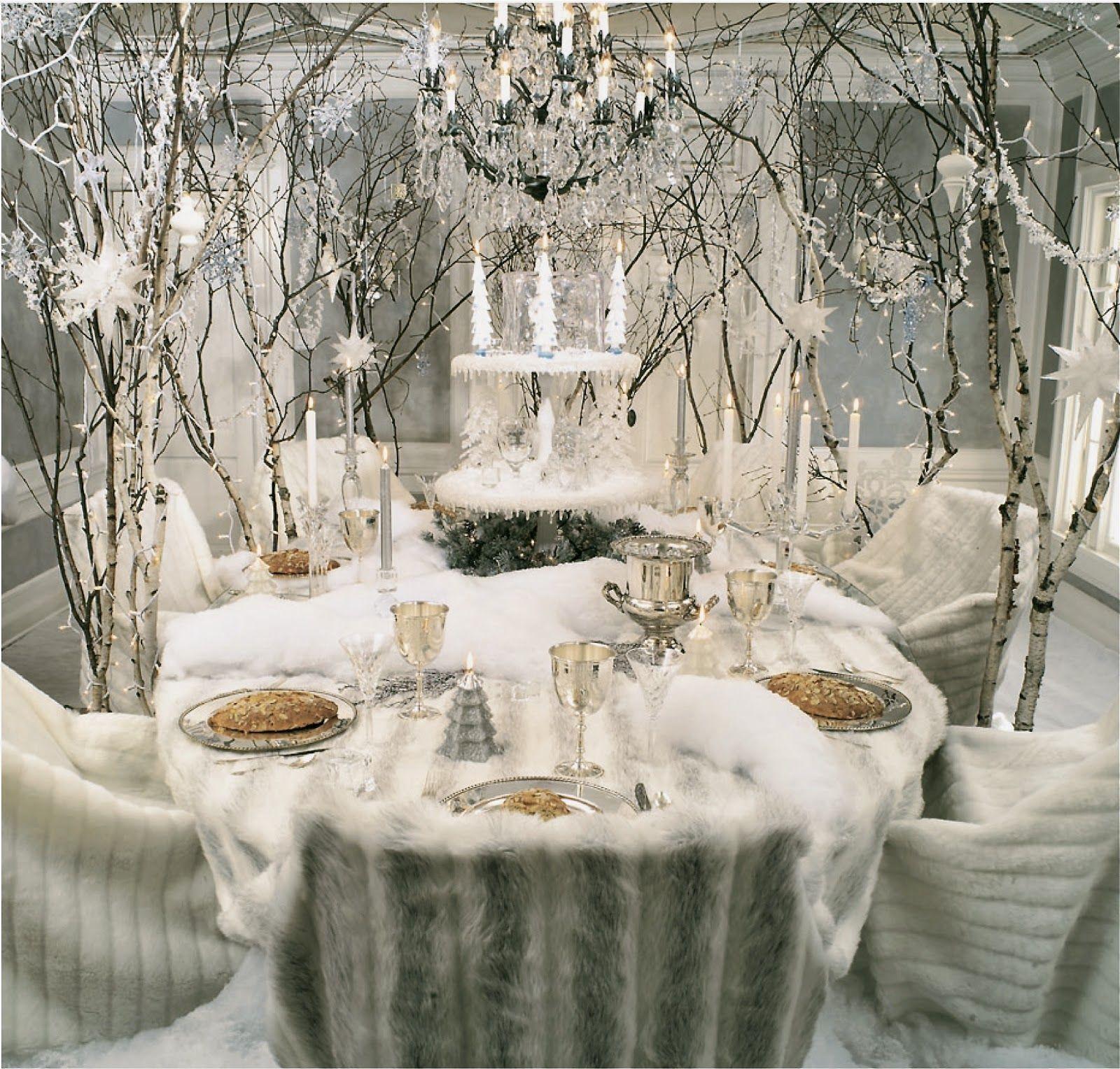 Winter Wonderland Table Life And Linda Winter Wonderland Christmas Christmas Table Christmas Table Settings