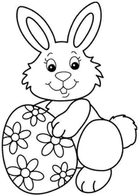 Easter Bunny Coloring Pages Easter Bunny Eggs Easter Coloring