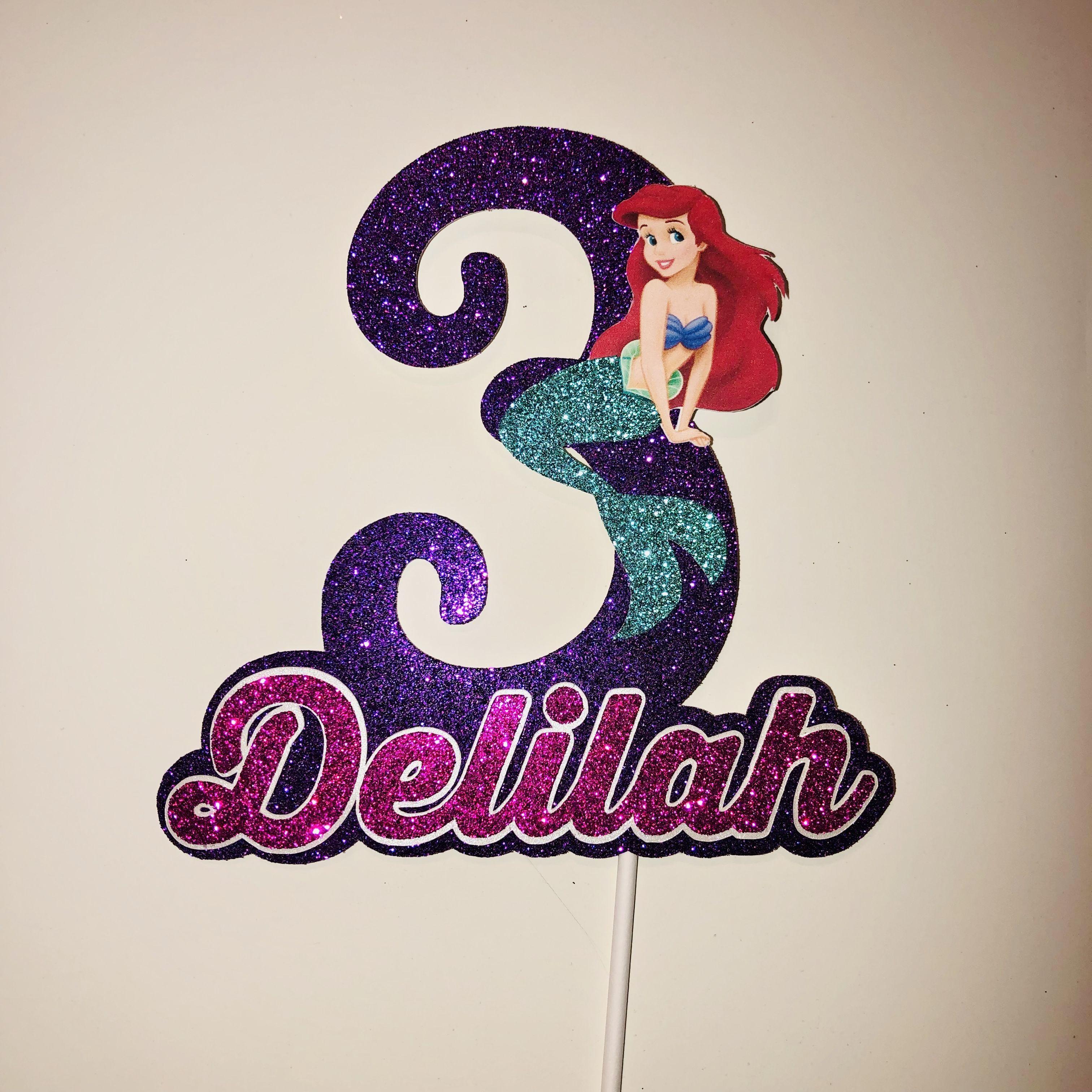 Little mermaid cake topper little mermaid cakes little