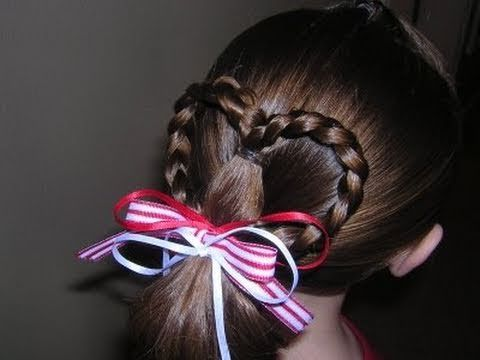 Heart Ponytail Hairstyle Youtube Valentine Hair Heart Hair Valentines Hairstyles