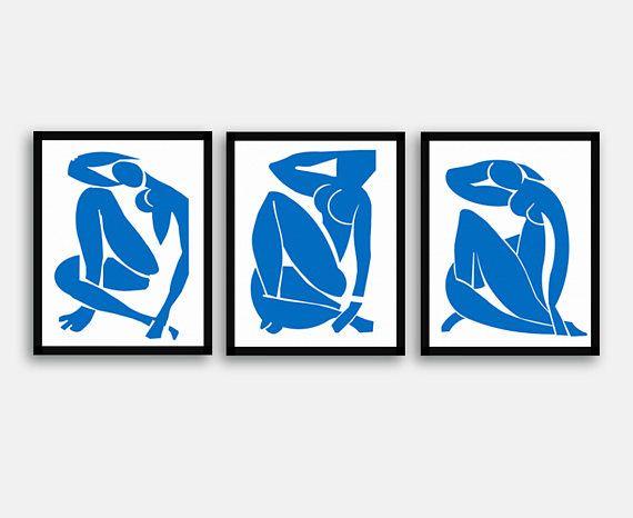 2f8d58eed07 Matisse Blue Nude Print Set Matisse Print Matisse Nude