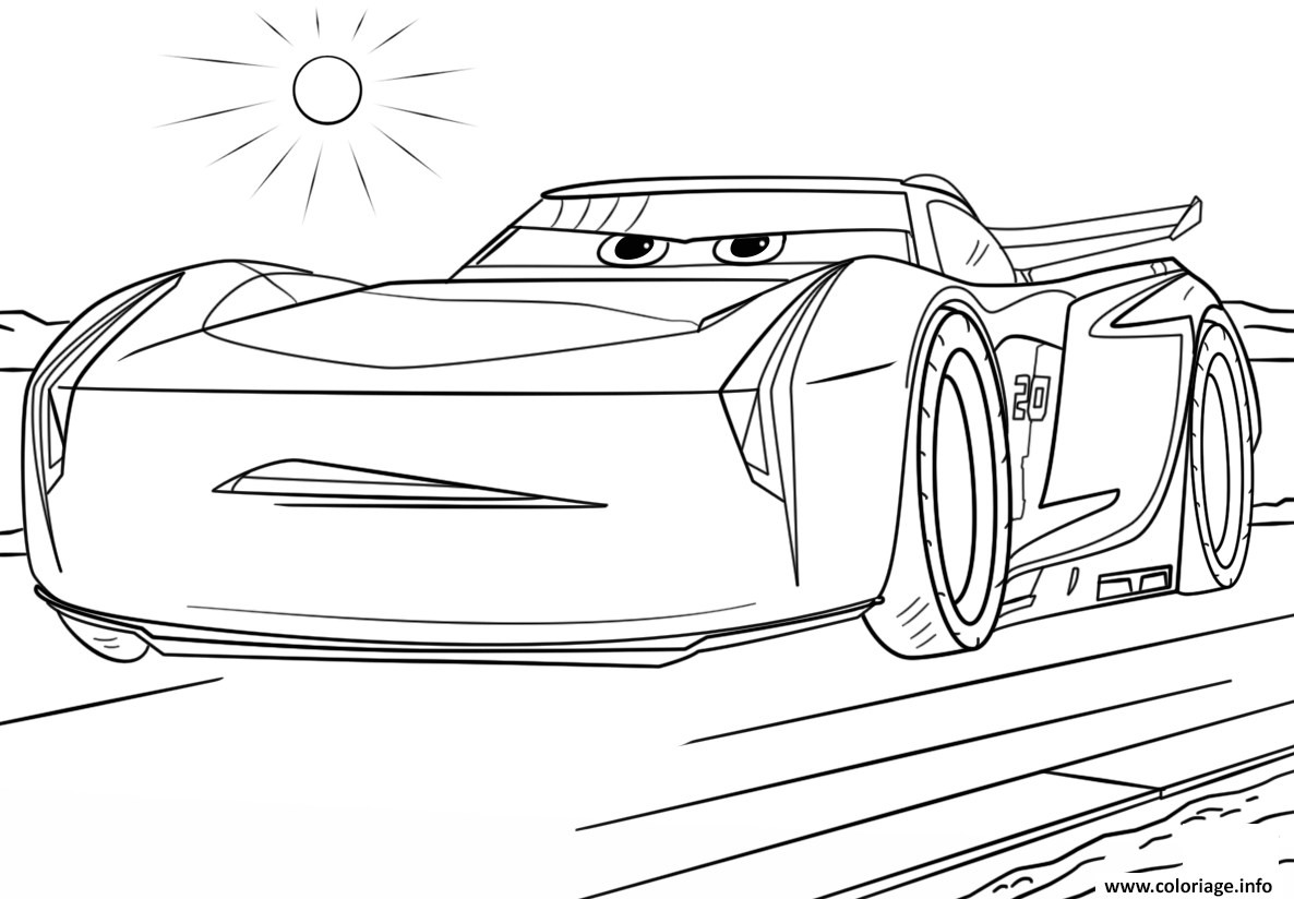 Feuille Coloriage Cars A Imprimer.Coloriage Jackson Storm From Cars 3 Disney Dessin A Imprimer Cars