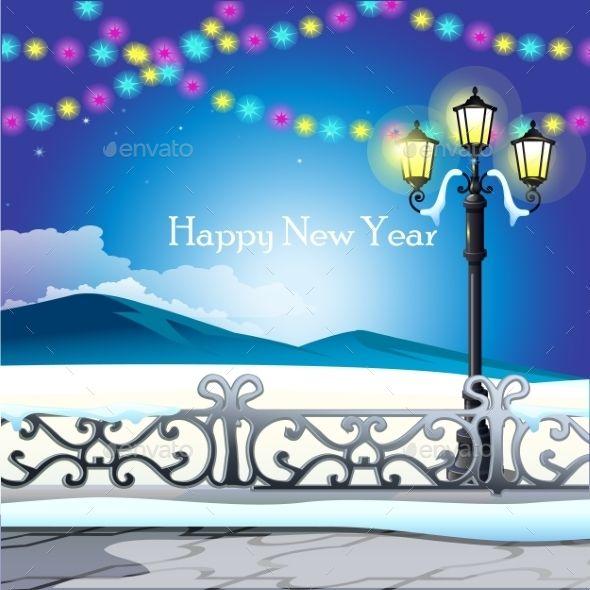 Winter Landscape, Night Sky With Twinkle Lights | Twinkle ...